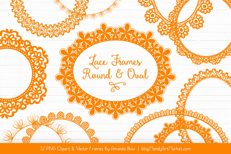 mixed-lace-round-frames-in-orange