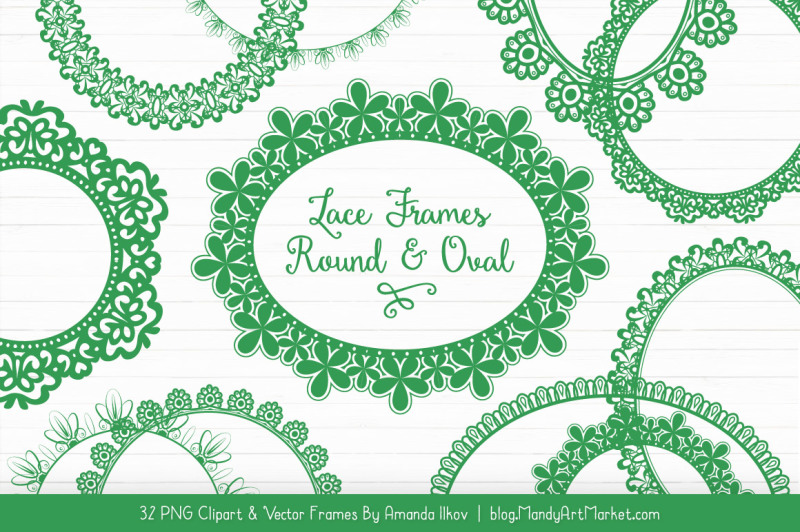 mixed-lace-round-frames-in-green