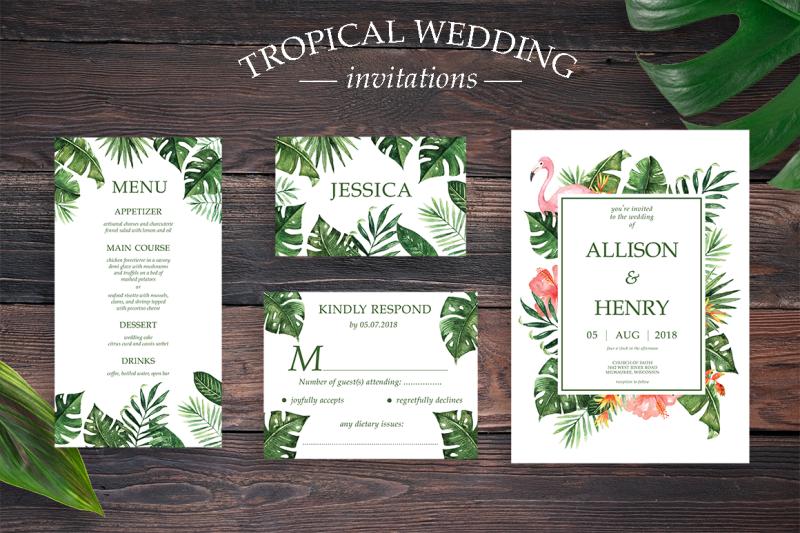 tropical-wedding-invitation-suite