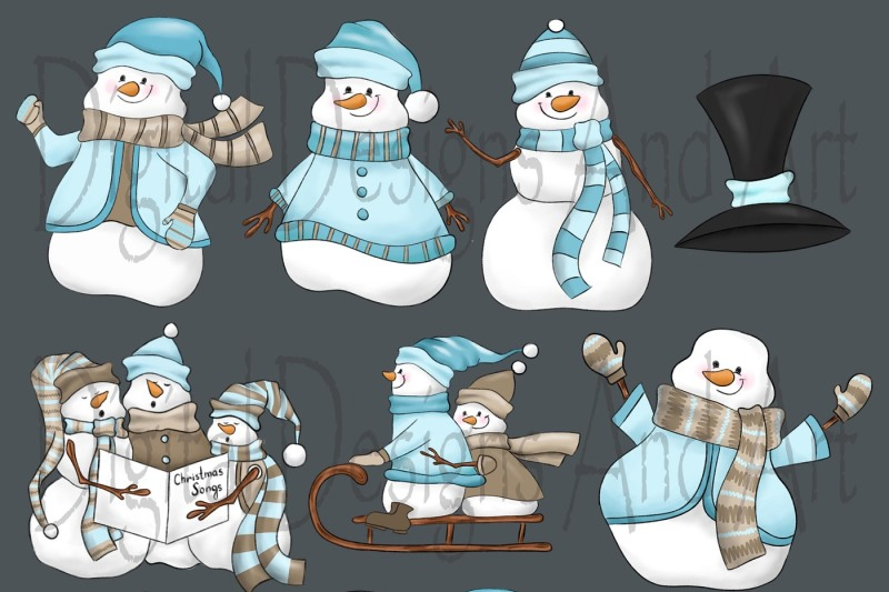 cute-snowman-clipart