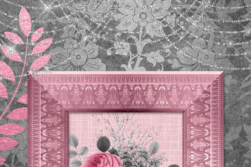 pink-and-silver-digital-scrapbooking-kit