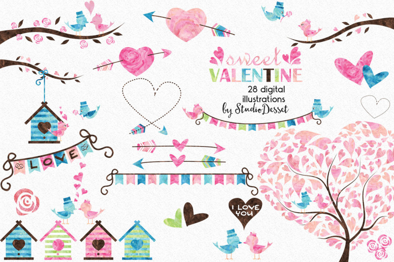 sweet-valentine-watercolor-cliparts