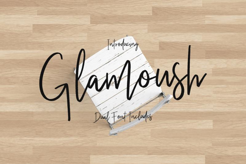 glamoush-typeface