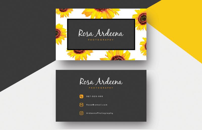 sunflower-business-card