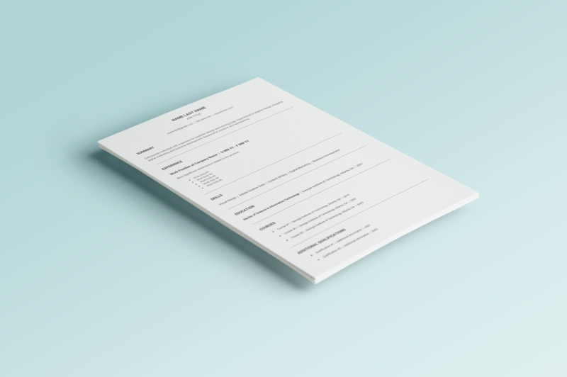 3 Resume Templates Pack