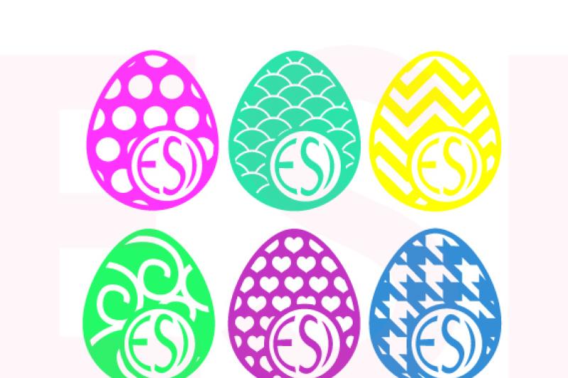 patterned-easter-egg-design-with-circle-for-a-monogram-set-1