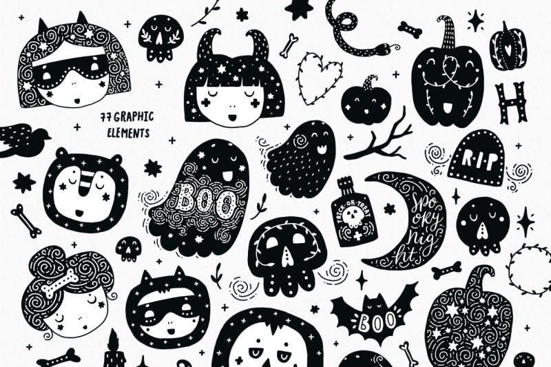 halloween-party-characters-patterns