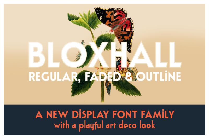 bloxhall-a-display-font