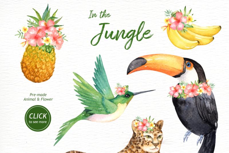 in-the-jungle-watercolor-clipart