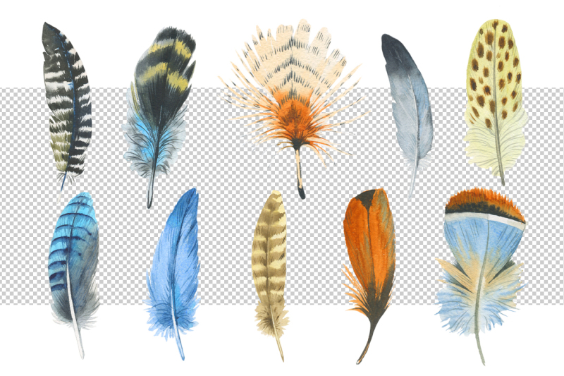 watercolor-feather-png-and-patterns