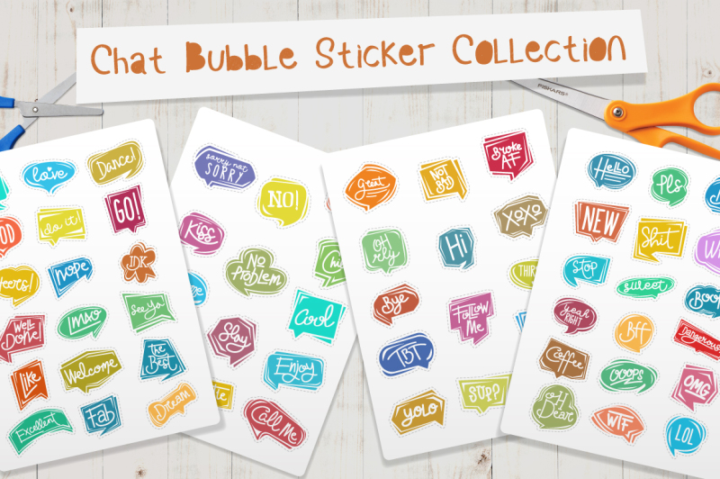 chat-bubble-sticker-collection