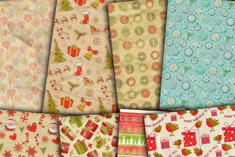 Christmas Digital Paper By Rwd Thehungryjpeg Com