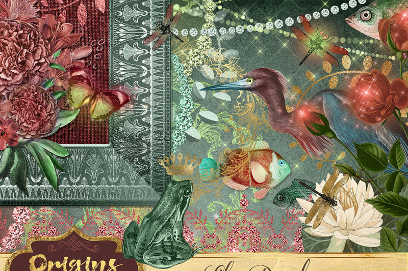 lily-pond-digital-scrapbooking-kit