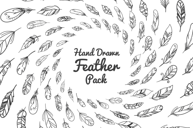 hand-drawn-feather-pack