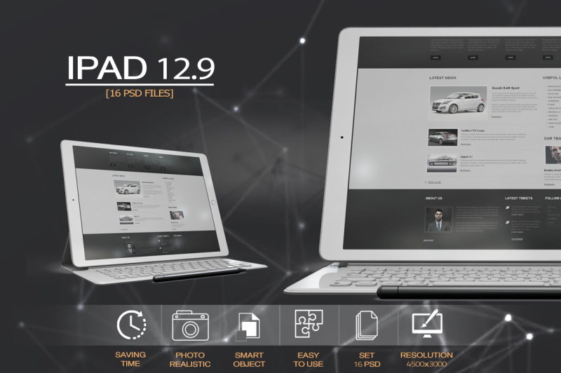 Free iPad Pro 12.9 MockUp (PSD Mockups)