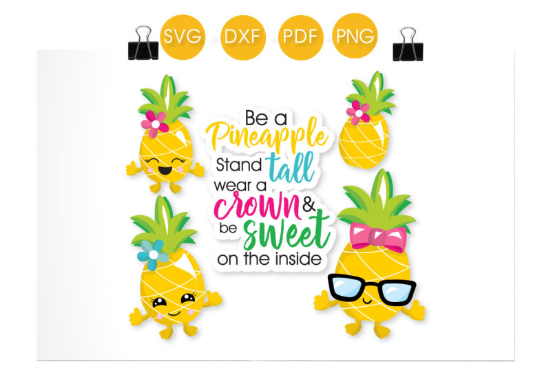be-a-pineapple-svg-png-eps-dxf-cut-file