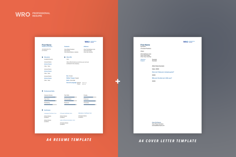 first-job-resume-and-cover-letter-template
