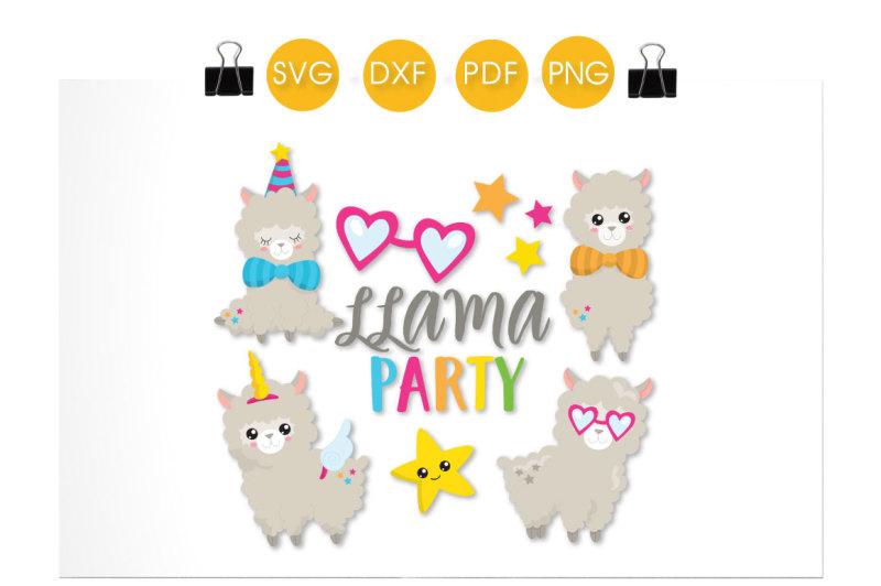 llama-party-svg-png-eps-dxf-cut-file