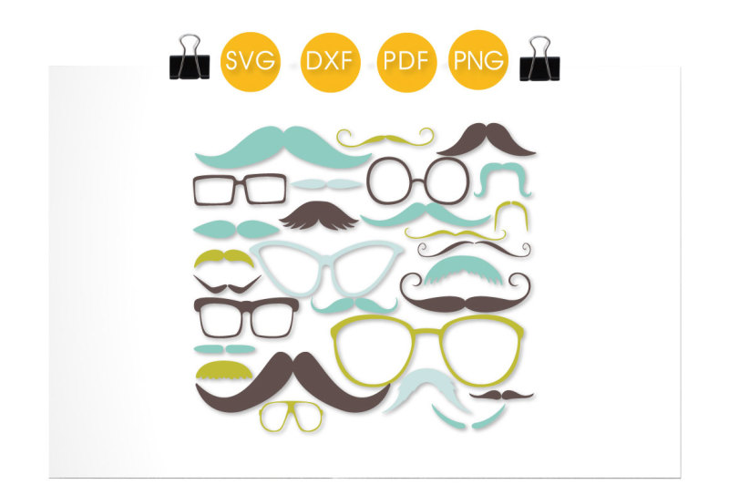 mustaches-and-glasses-svg-png-eps-dxf-cut-file