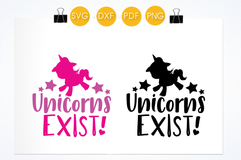 Unicorn Exist Svg Png Eps Dxf Cut File By Prettycuttables