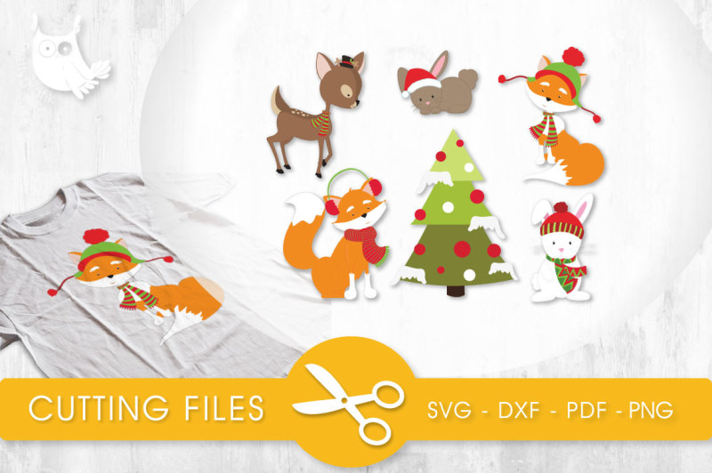 wintery-forest-critters-svg-png-eps-dxf-cut-file