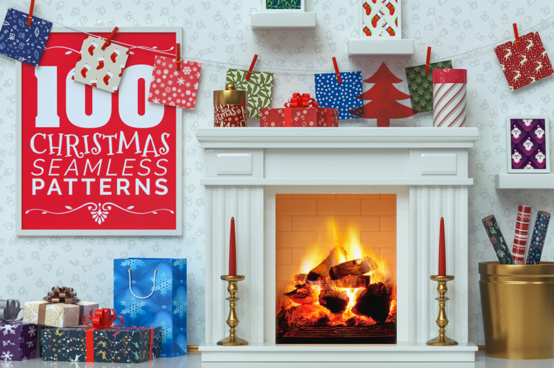 100-christmas-seamless-patterns