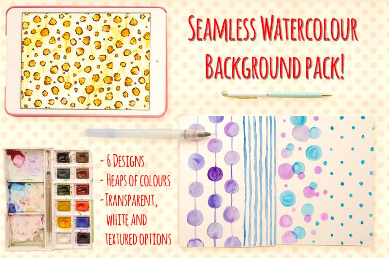 seamless-watercolor-pattern-bundle