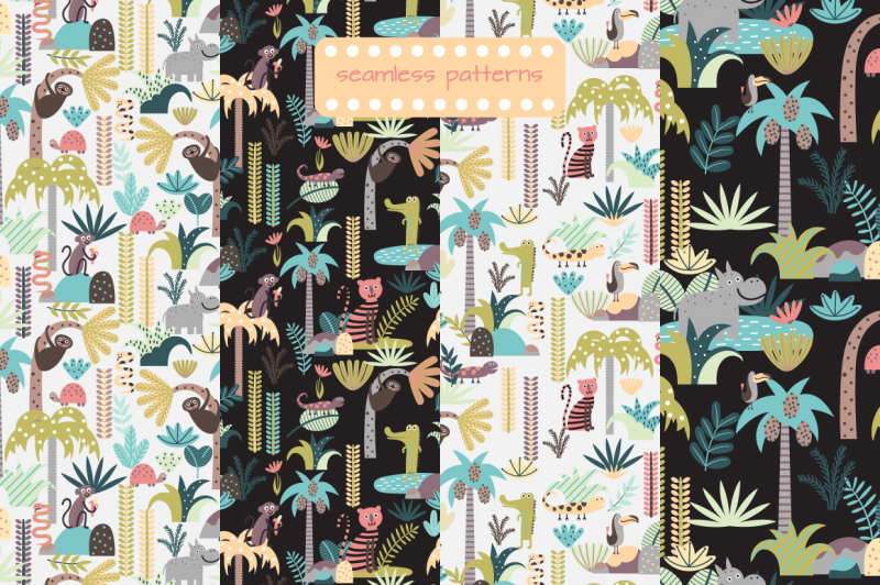 childrens-set-with-tropic-forest