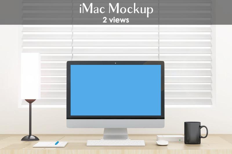 Free iMac mockup (PSD Mockups)
