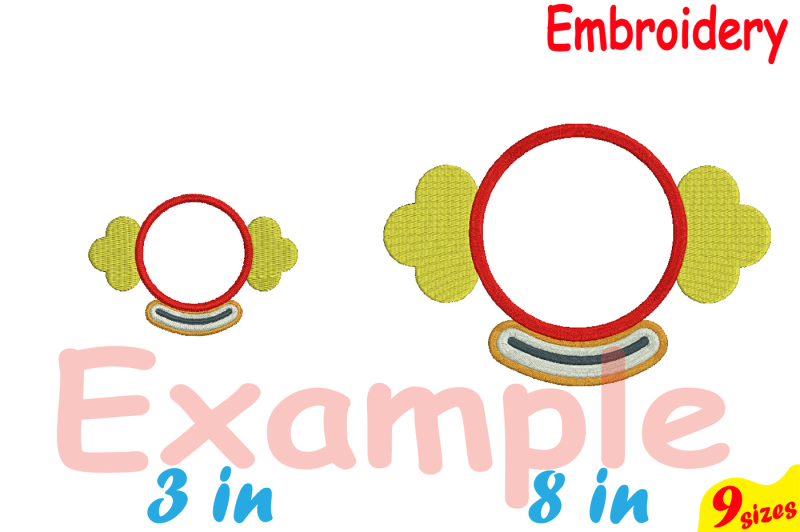 circus-clown-designs-for-embroidery-machine-instant-download-commercial-use-digital-file-4x4-5x7-hoop-icon-symbol-carnival-cannon-shoes-frame-circle-abc-magic-80b