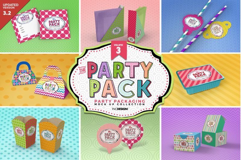 Free The Party Pack MockUps Vol.3 (PSD Mockups)