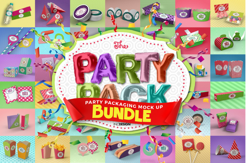 Free The Party Pack Bundle (PSD Mockups)