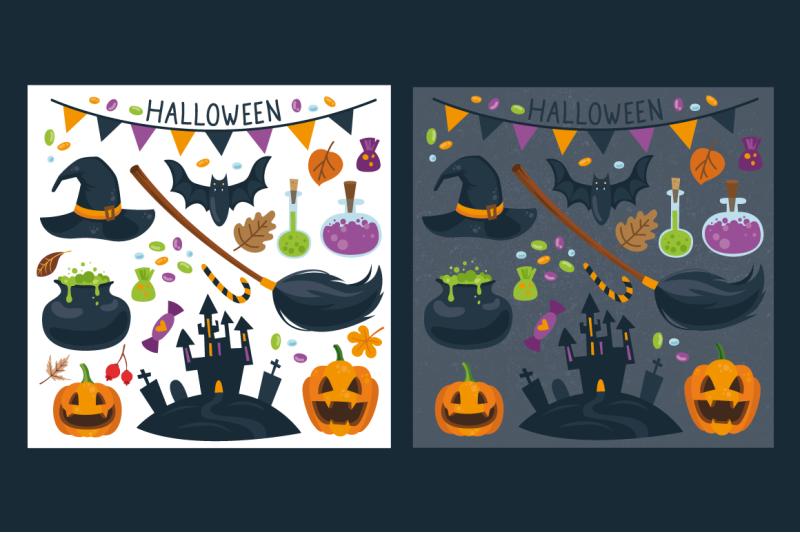 halloween-vector-set