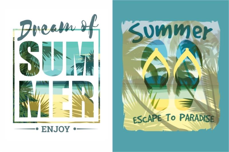 tropical-beach-vector-illustrations