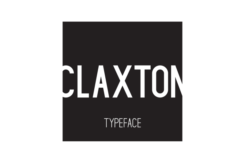 claxton-typeface