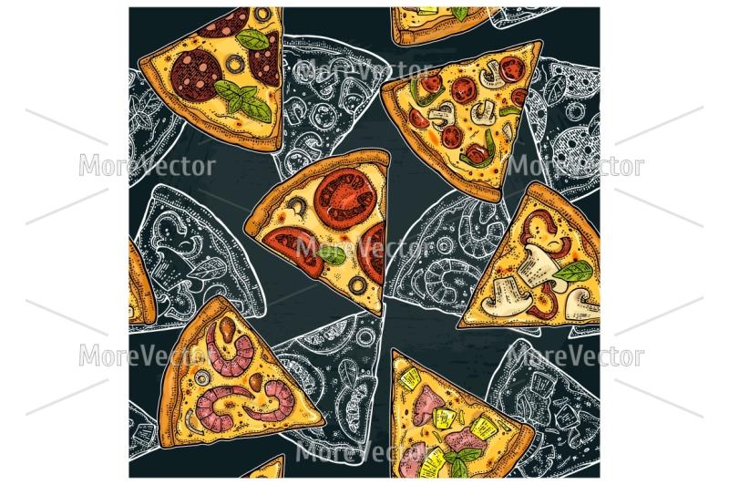 seamless-pattern-slice-pizza-pepperoni-hawaiian-margherita-mexican-seafood-capricciosa