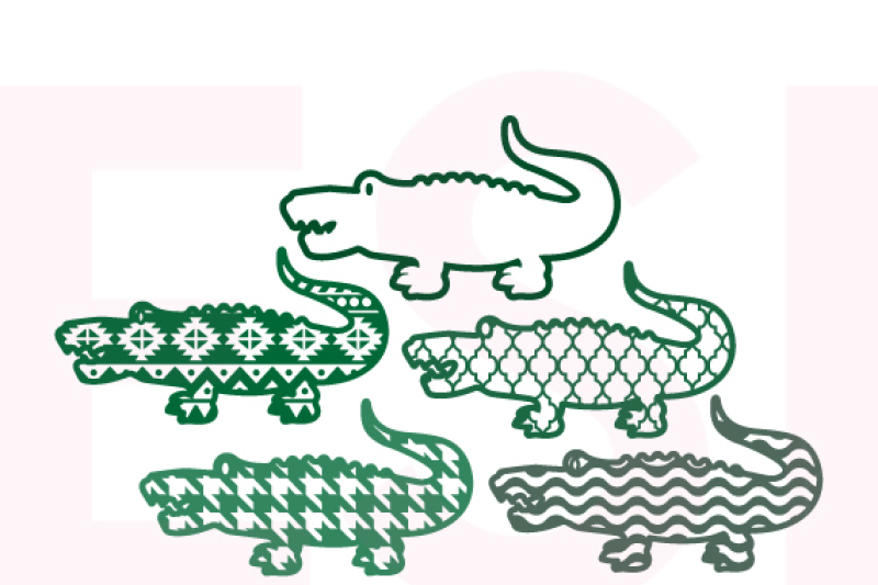 patterned-alligators-set-2-svg-dxf-eps