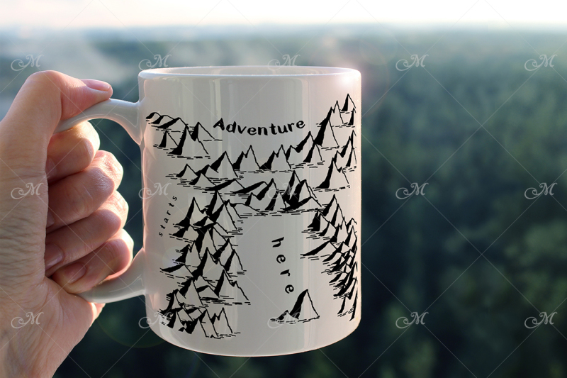 Free Adventure Mug Mock-up (PSD Mockups)