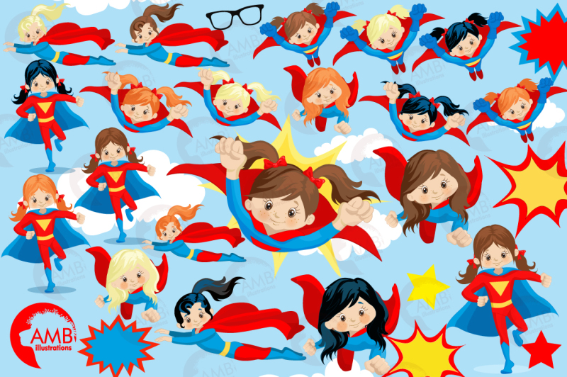 superhero-girls-clipart-graphics-illustrations-amb-1033