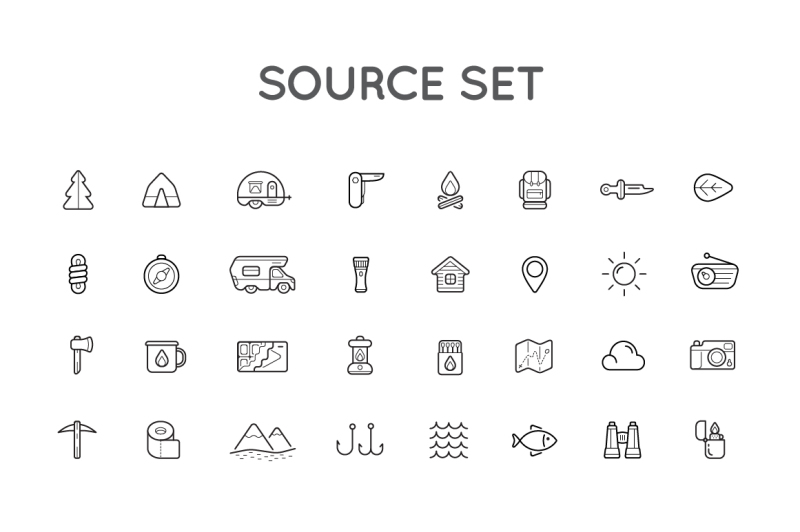 awesome-camping-icons-and-logo-set