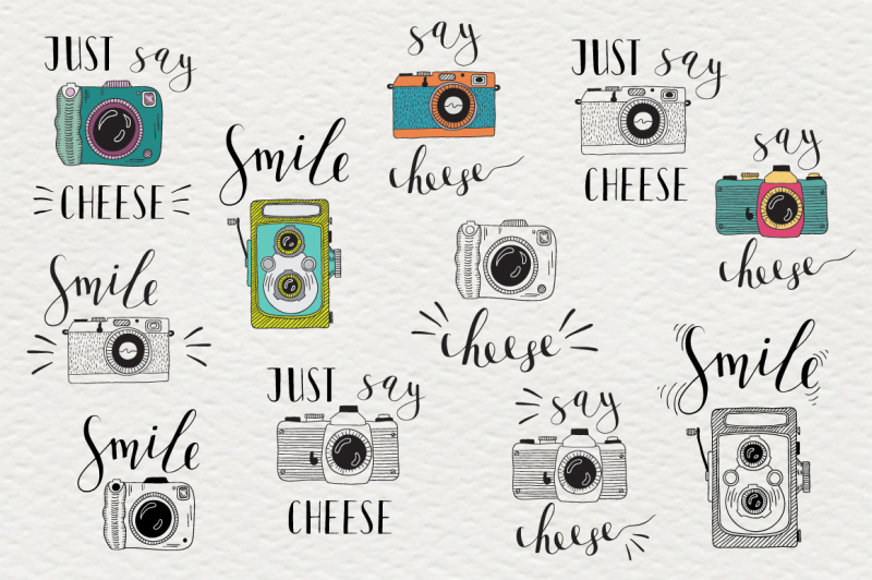 set-of-cameras-with-letterings