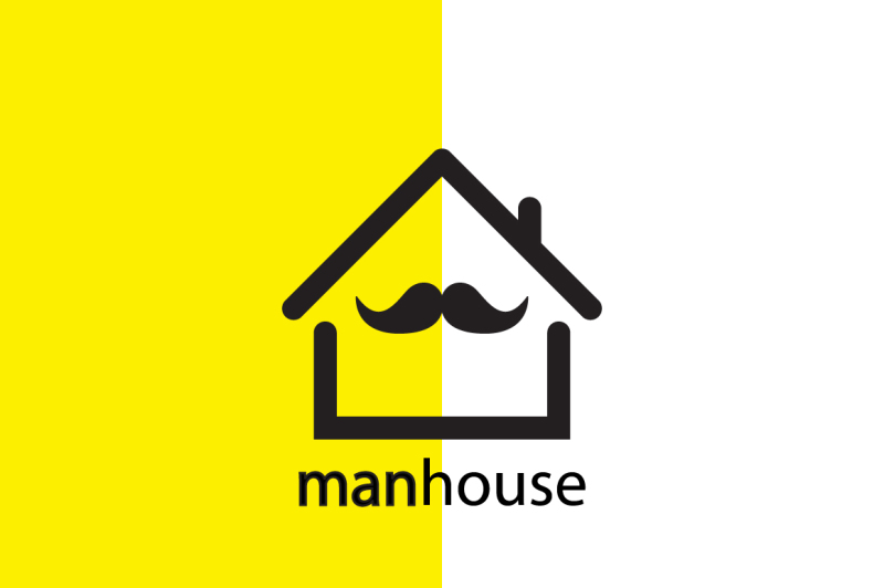 man-house-logo-design