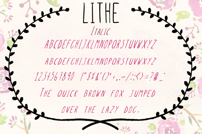 lithe-handdrawn-font-bold-and-italic