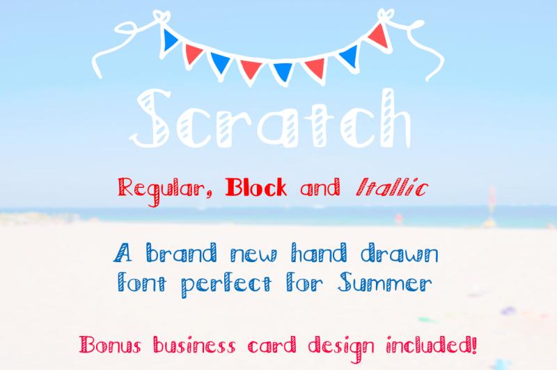 scratch-regular-block-italic-font