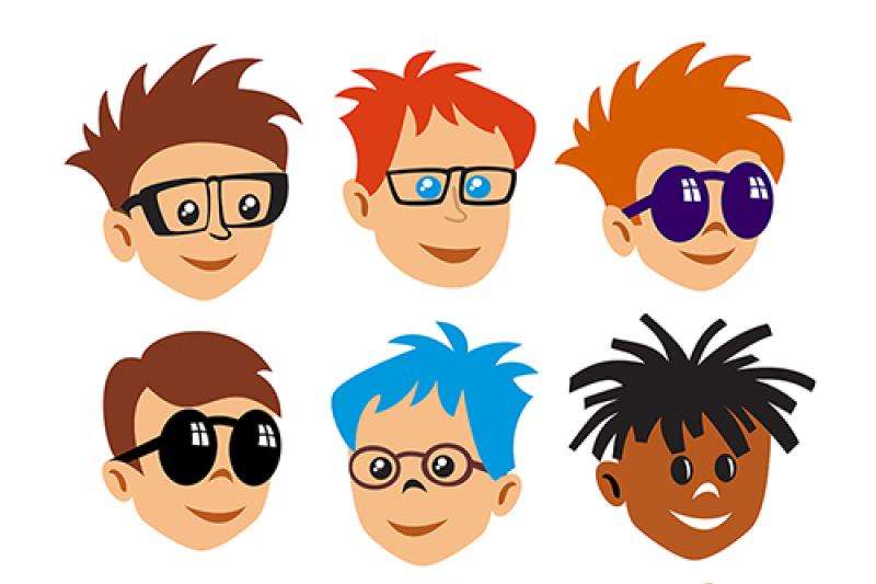 cartoon-face-symbols-vector