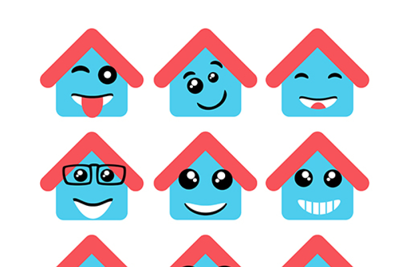 vector-house-face-symbols