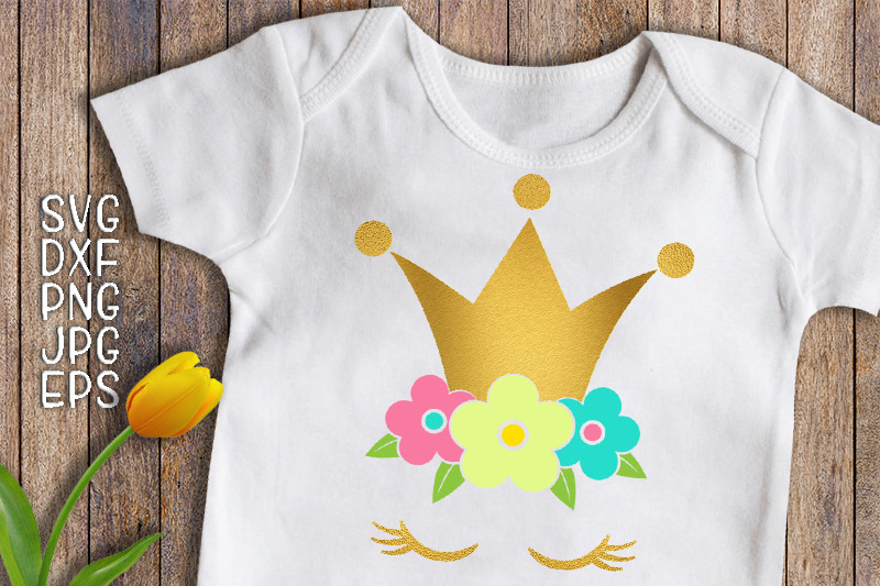 princess-svg-princess-birthday-svg-unicorn-face-svg-gold-crown-iron-on-unicorn-svg-flowers-svg-eyelashes-svg-birthday-girl-svg-dxf