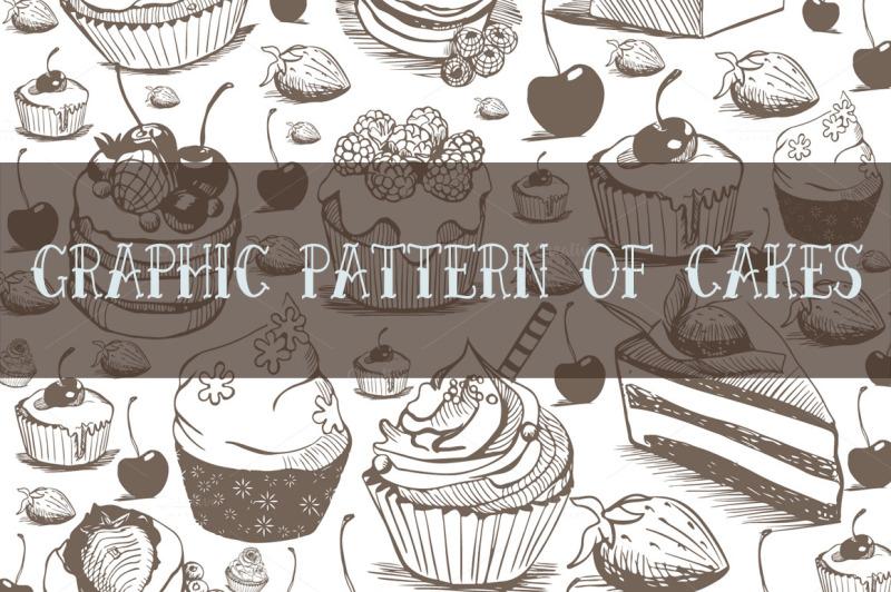 set-watercolor-cakes