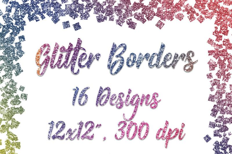 rainbow-glitter-borders-digital-paper