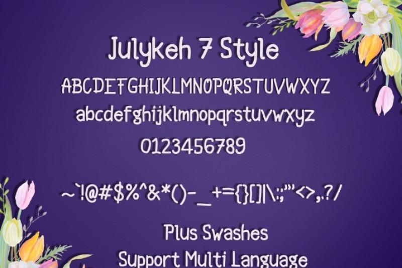 julykeh-handmade-7-style-font